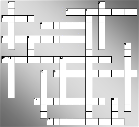 crossword puzzle below. Remove punctuation and any other non-alphabet ...